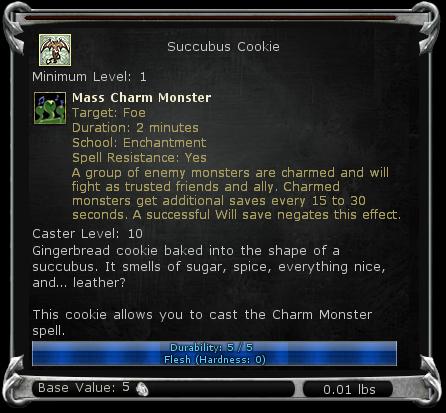 Succubus Cookie item DDO
