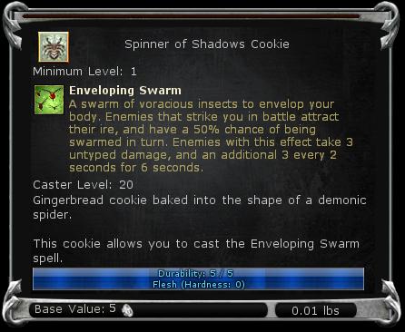 Spinner of Shadows Cookie item DDO