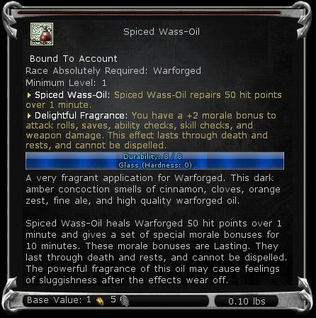 Spiced Wass-Oil item DDO
