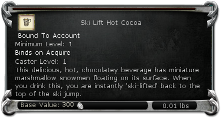 Ski Lift Hot Cocoa item DDO