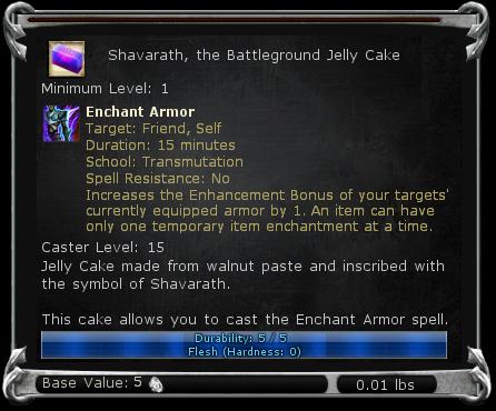 Shavarath, the Battleground Jelly Cake item DDO