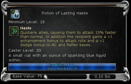 Potion of Lasting Haste item DDO