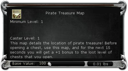 Pirate Treasure Map item DDO