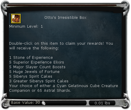 Otto's Irresistible Box item DDO