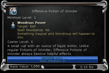 Offensive Potion of Wonder item DDO