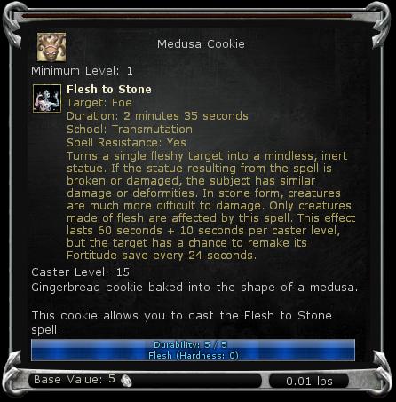 Medusa Cookie item DDO
