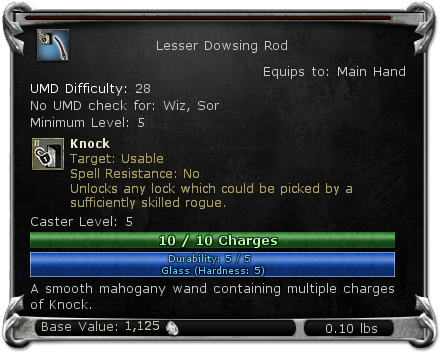 Lesser Dowsing Rod item DDO