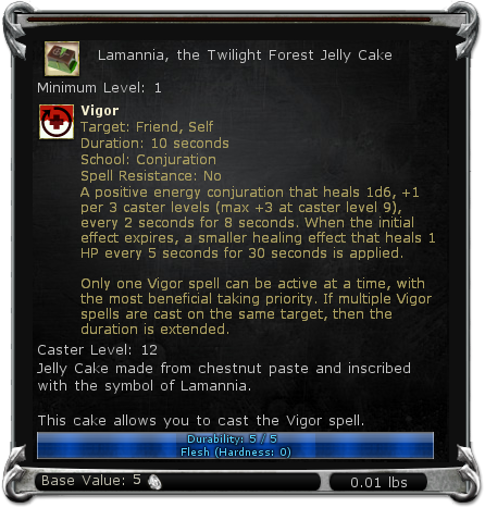 Lamannia, the Twilight Forest Jelly Cake item DDO