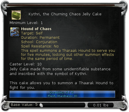 Kythri, the Churning Chaos Jelly Cake item DDO