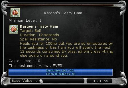 Kargon's Tasty Ham item DDO
