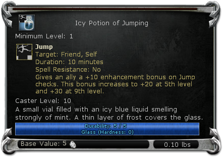 Icy Potion of Jumping item DDO