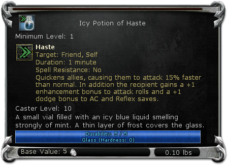 Icy Potion of Haste item DDO
