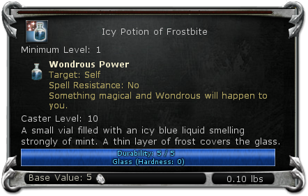 Icy Potion of Frostbite item DDO