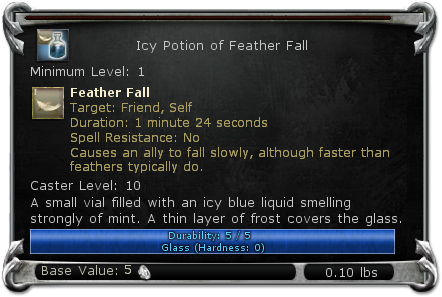 Icy Potion of Feather Fall item DDO