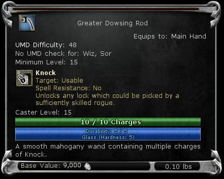 Greater Dowsing Rod item DDO