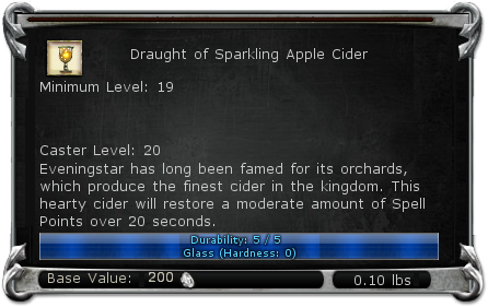 Draught of Sparkling Apple Cider item DDO