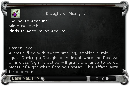 Draught of Midnight item DDO