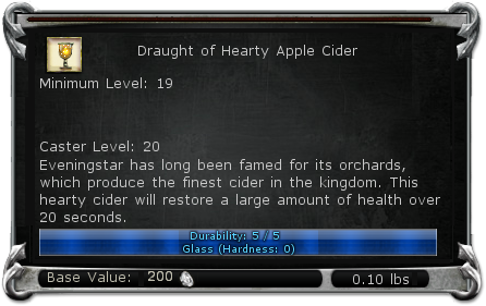 Draught of Hearty Apple Cider item DDO