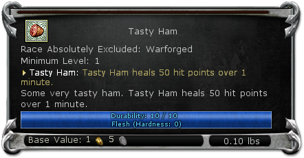 Tasty Ham item DDO