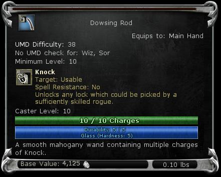 Dowsing Rod item DDO