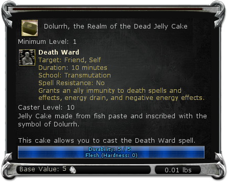 Dolurrh, the Realm of the Dead Jelly Cake item DDO