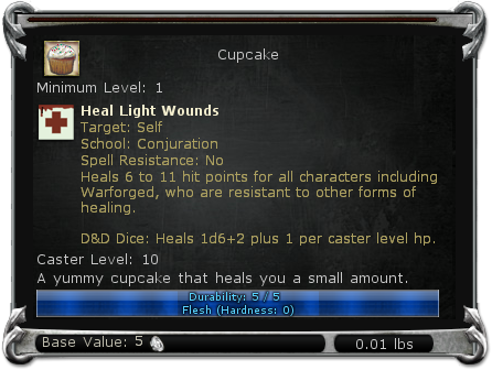 Cupcake item DDO