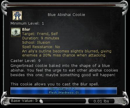 Blue Abishai Cookie item DDO