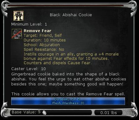Black Abishai Cookie item DDO
